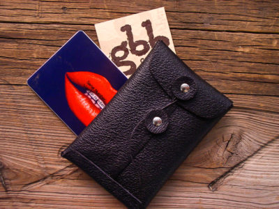 Black Pebble Card Case