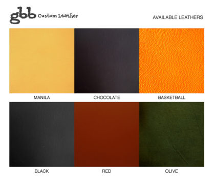 gbb custom leather available leathers