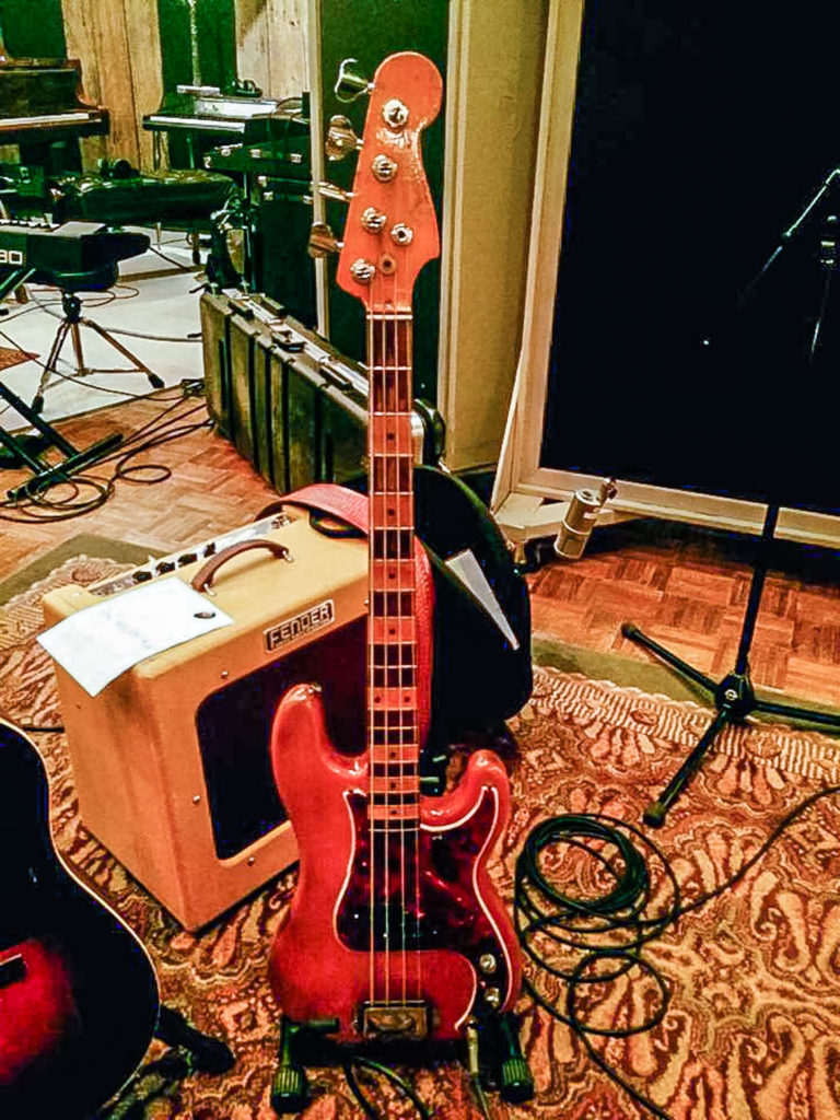 Larry's Custom Leather Bass strap (Photo credit - Jo Harman)